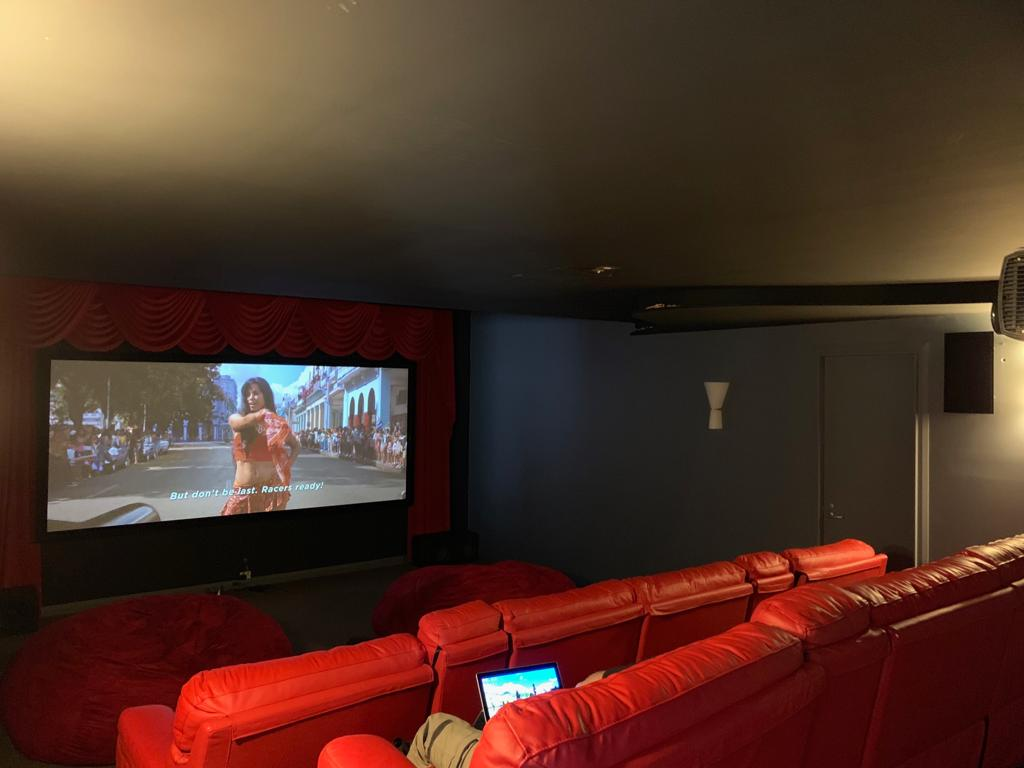 Custom theatre setup for a customers home